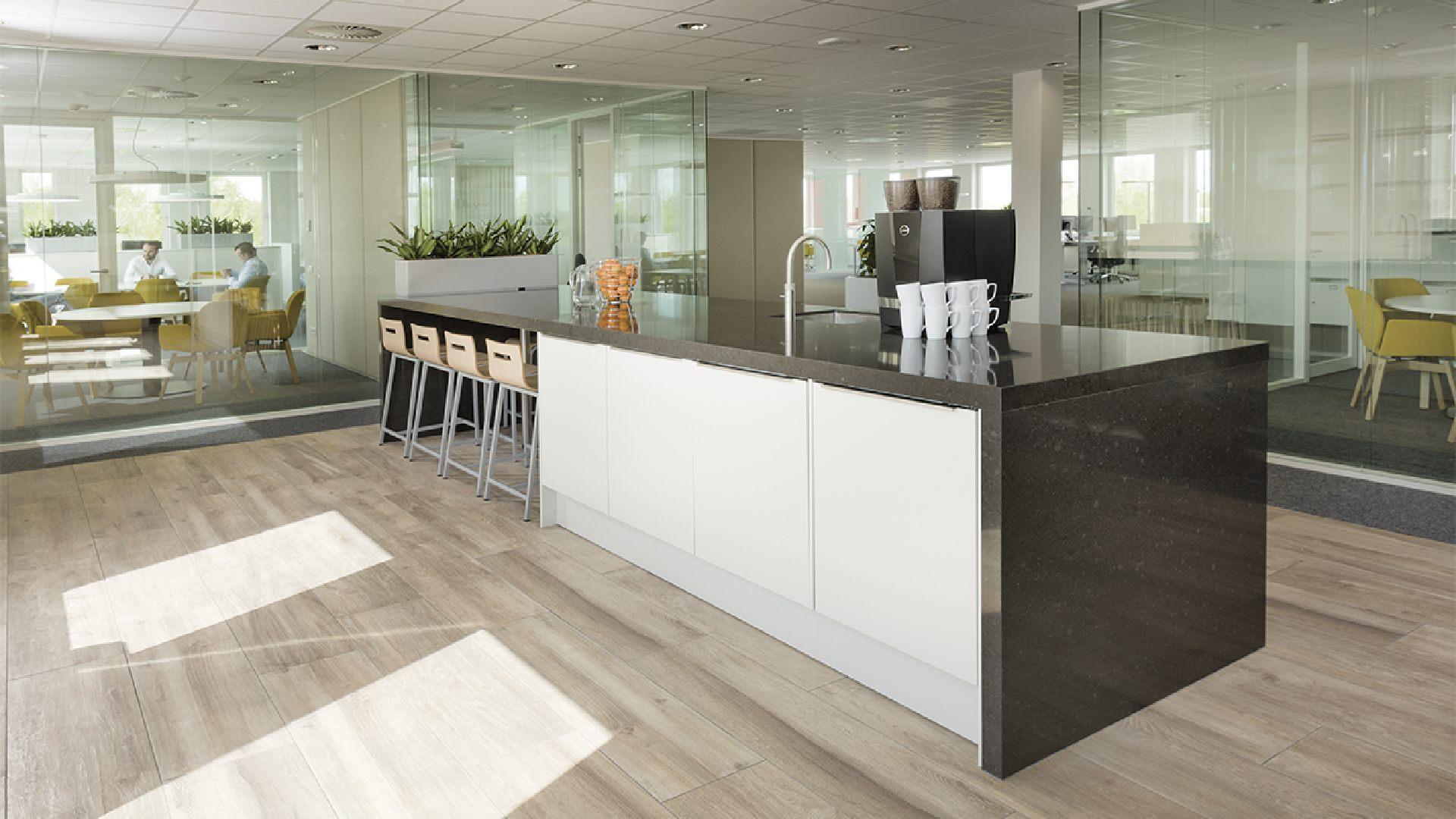 Een kantoor bouw je om de keuken