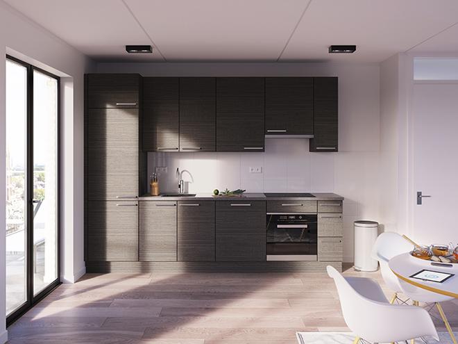Bribus keuken - keukenontwerp Keukenontwerp 013103 - Studio B