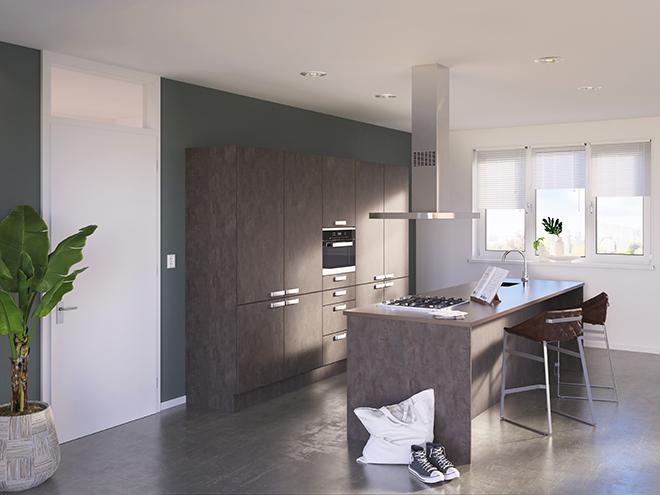 Bribus keuken - keukenontwerp Keukenontwerp 085606 - Studio B